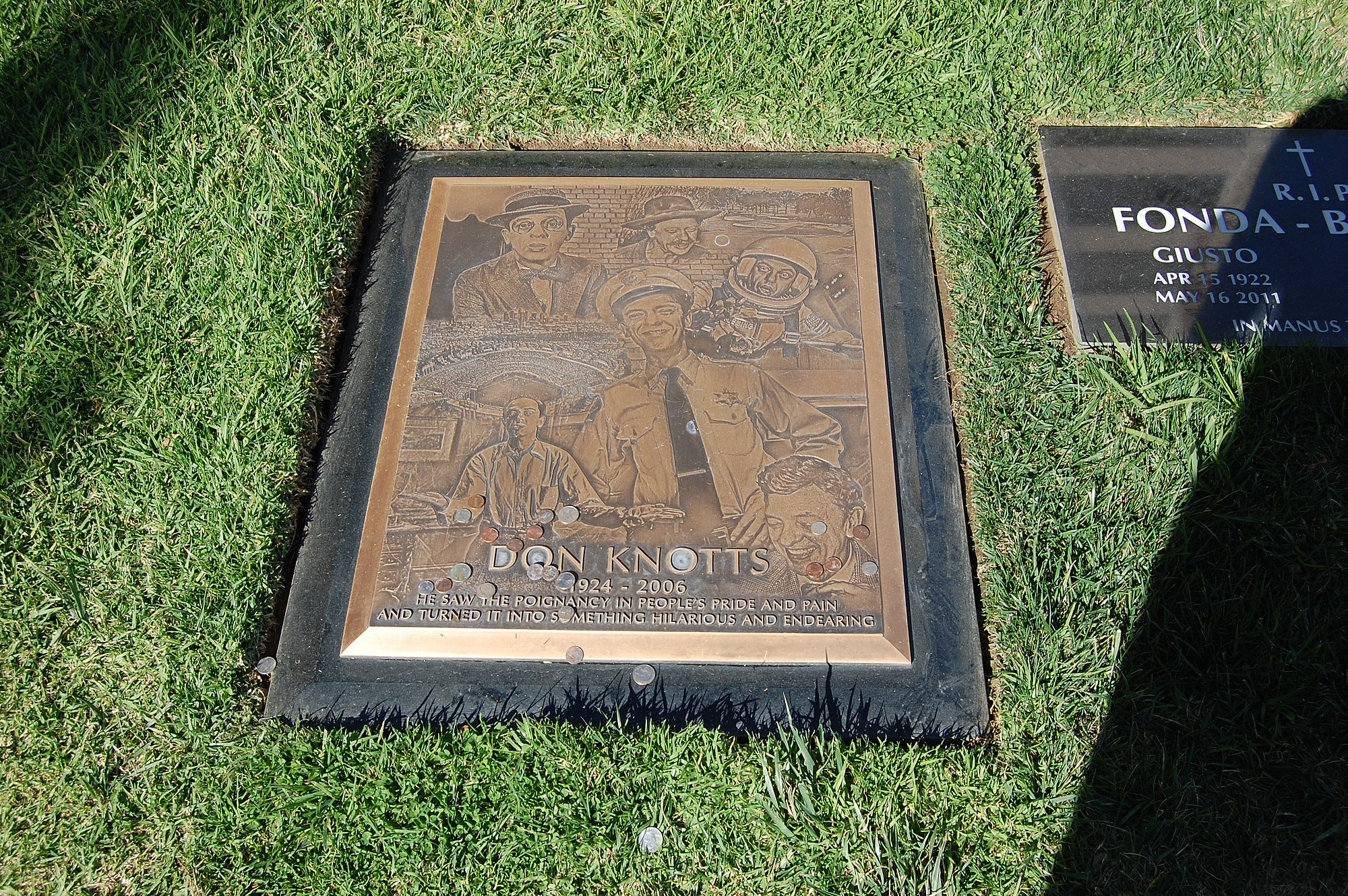 Filedon Knotts Grave At Westwood Village Memorial Park Cemetery In