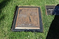 Don Knotts grave at Westwood Village Memorial Park Cemetery in Brentwood, California.JPG