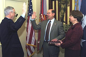 Donald C. Winter - Winter sworn in as Secretary of the Navy, January 2006.
