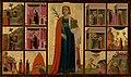 Donato d'Arezzo, Gregorio d'Arezzo - Saint Catherine of Alexandria and Twelve Scenes from Her Life - 73.PB.69 - J. Paul Getty Museum.jpg