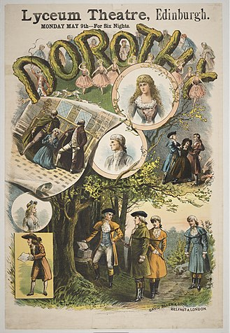Dorothy (opera) - Poster for production at the Royal Lyceum Theatre, Edinburgh, 1887