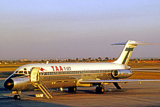 Trans Australia Airlines - TAA Douglas DC-9-31 Paul Strzelecki awaiting passengers at Melbourne's Essendon Airport in 1971, wearing the TAA DC-9 T-JET colour scheme