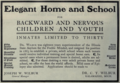 """Dr. C. T. Wilbur Home and School (""""American medical directory"""", 1906 advert).png"""