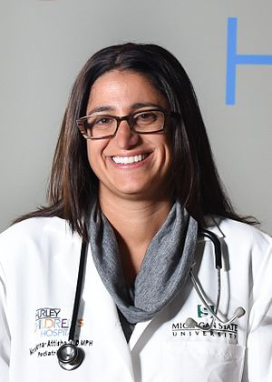 Flint water crisis - Dr. Mona Hanna-Attisha led the Hurley Medical Center lead poisoning study.