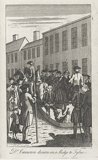 Donald Cameron of Lochiel - Archibald Cameron, en route to his execution, June 1753; allegedly betrayed for his role in pressing Cameron recruits in 1745