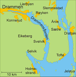 Drammen Wikipedia - Norway map districts