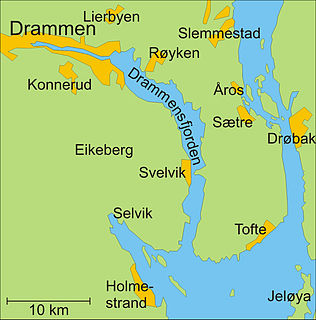 Drammensfjord fjord in Norway