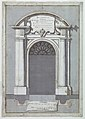 Drawing, Design for a door with arched pediment, 1746 (CH 18127323-2).jpg