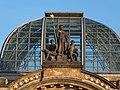 Dresden Hauptbahnhof Cupola with Saxonia 01.JPG