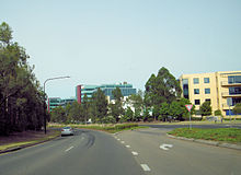 Driving westbound on Norwest Boulevard.jpg