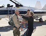 Dryden research pilot Gordon Fullerton on the Dryden ramp after his final flight. DVIDS834702.jpg