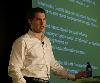 Duncan J. Watts - Watts presenting at iCitizen 2008