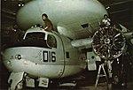E-1B Tracer of RVAW-110 aboard USS Coral Sea (CVA-43), circa in 1975.jpg