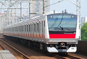 Keiyō Line - A Keiyō Line E233-5000 series EMU, July 2010
