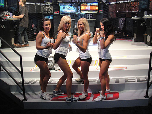 E3 2010 UFC Undisputed 2010 booth babes