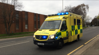 East of England Ambulance Service - A 2014 Registered Emergency Ambulance pictured responding to an emergency