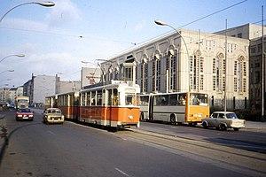 A 217 class REKO tram in Friedrichstrasse, rou...