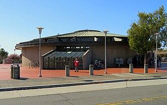 North Berkeley station - The circular headhouse of North Berkeley station