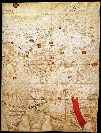 Guillem Soler - Image: Eastern Mediterranean detail of portolan chart of Guillem Soler (c.1380, Paris)