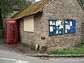 Easton Maudit notice board and red phone box - geograph.org.uk - 455144.jpg