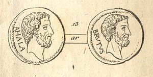 Lucius Junius Brutus - Lucius Iunius Brutus, on right