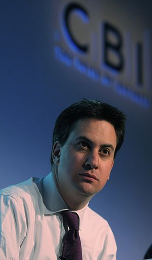 English: Ed Miliband, British politician and S...