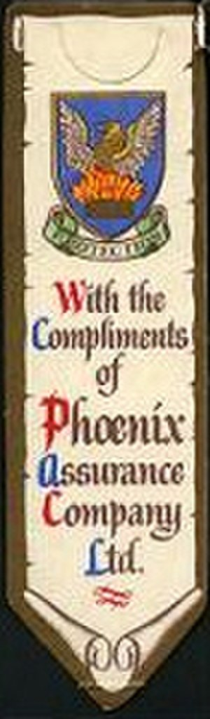 "The Phoenix and the Carpet - The ""Phoenix Assurance Company""'s bookmark given with the special edition"