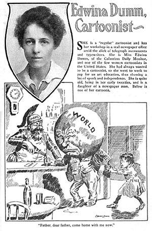 Edwina Dumm - The magazine Cartoons featured Edwina Dumm in its January 1917 issue.