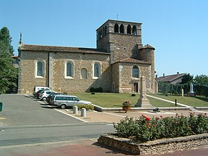 Montanay - The church in Montanay
