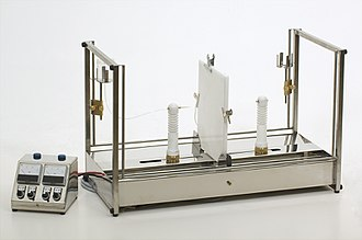 Electrospinning - A constant pressure laboratory electrospinning machine (set up for horizontal fiber production)