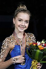 Elena Radionova at the World Championships 2015 - Awarding ceremony 02.jpg