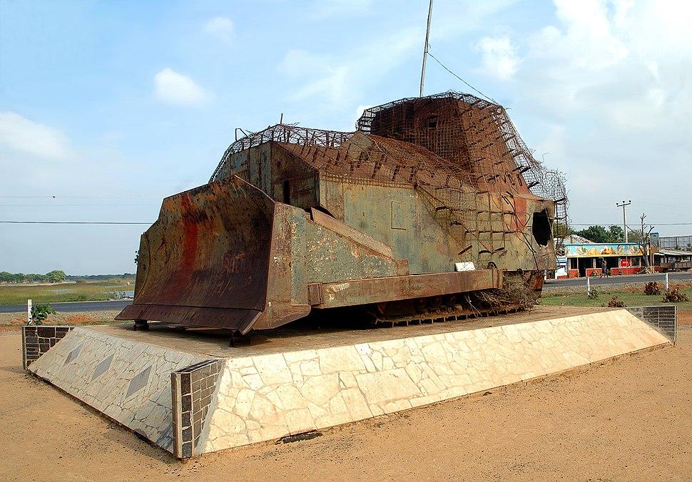 Elephant Pass armored bulldozer