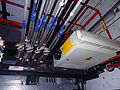 Elevator hoist ropes on top of Lift car.jpg