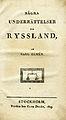 Elmen, Några underrättelser om Ryssland (1809) titelblad.jpg