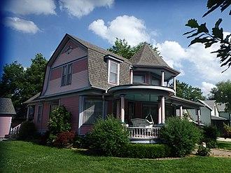 National Register of Historic Places listings in Dickinson County, Kansas - Image: Emerson Coulson House Side Abilene, KS (14384036243)