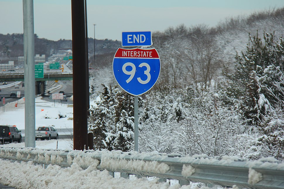 End Interstate 93 in Canton, MA