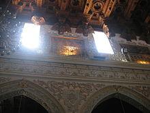Arte barocca ad Enna, scorcio del soffitto ligneo del Duomo.