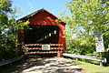 Entrance to the Stonelick Covered Bridge, now closed to all traffic.jpg