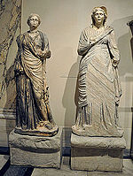 Ephesos Celsus Library sculptures at Vienna 2.jpg