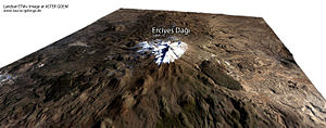 Mount Erciyes - 3D image of Erciyes