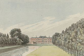 Erddig - Erddig house and gardens, from Pennant's A Tour in Wales, 1778