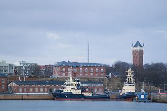 Esbjerg - Image: Esbjerg harbour (8563661696)