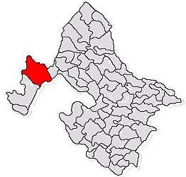 Lage im Landkreis Mehedinți
