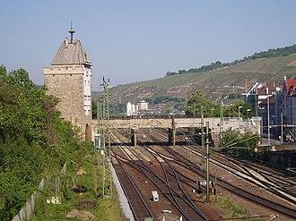 Fils Valley Railway - The Fils Valley Railway in Esslingen