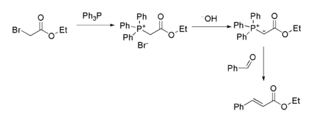 Ethyl bromoacetate as the starting point for a Wittig reaction sequence