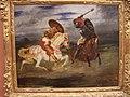 Eugène Ferdinand Victor Delacroix -- Combat de chevaliers dans la campagne1.jpg