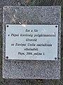 Európai uniós csatlakozás emlékére, emlékfa emléktáblája, 2020 Pápa.jpg