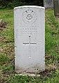 Evans (Thomas Patrick) CWGC gravestone, Flaybrick Memorial Gardens.jpg