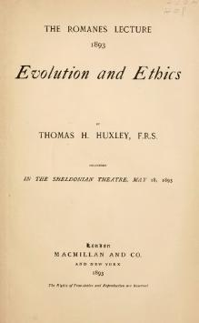 evolution and ethics huxley pdf