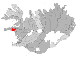 Location of the Municipality of Eyja- og Miklaholtshreppur